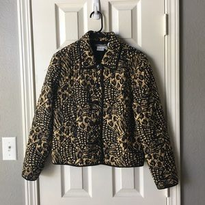Maggy L 100% silk animal print quilted jacket